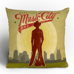 Anderson Design Group 'Music City' Throw Pillow