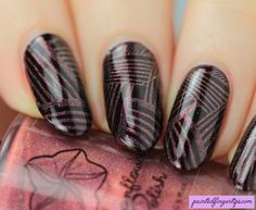 Painted Fingertips | The Digital Dozen Does Stamping - Moonflower Polish Amapola