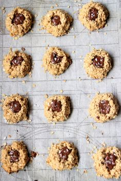 My Happy Place: chocolate peanut butter oatmeal thumbprint cookies