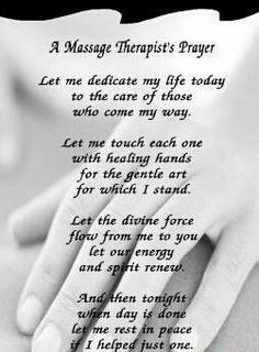 Massage Therapists Prayer
