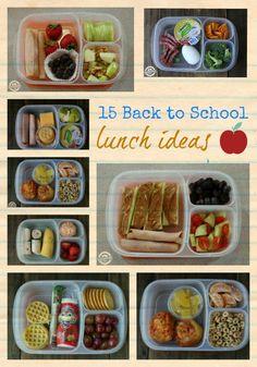 15 Back to School Lunch Ideas via @hollyhomer