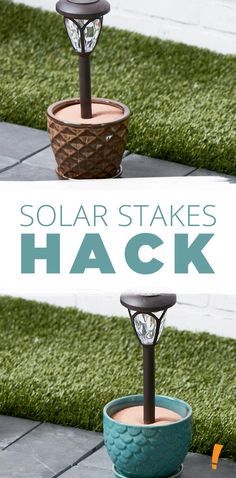 Save on Outdoor Solar Lights - Big Lots - Landscaping - Instead of staking your solar stakes in the ground, put them in a pot to line the pathway to your ho - Solar Shed Light, Solar Light Crafts, Diy Solar, Solar Led, Best Solar Lights, Solar Pathway Lights, Solar Yard Lights, Solar Lanterns, Driveway Lighting