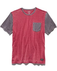 Flag & Anthem Bryant Burnout Tee - Red Combo XL