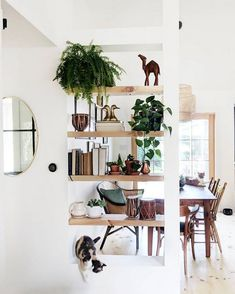 my scandinavian home: A Dingy Bungalow Gets A Fab Light-Filled Make-Over Living Room Partition Design, Living Room Divider, Room Partition Designs, Room Divider Shelves, Diy Home Decor, Room Decor, Interior Decorating, Interior Design, Scandinavian Home