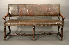 Antique 17th Century French walnut seat - Stock - Moxhams Antiques