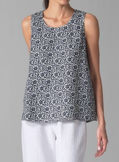 PLUS Clothing - VIVID Linen Sleeveless Camisole