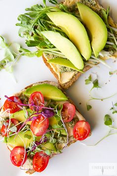 Avocado Toast Two Ways. Avocado Toast Two Ways takes just 5 Mins! A fast healthy lunch when things get busy! Whole Food Recipes, Cooking Recipes, Easy Cooking, Healthy Snacks, Healthy Eating, Vegetarian Recipes, Healthy Recipes, Vegan Meals, Diet Recipes