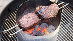 Ultimate Charcoal-Grilled Steaks....oven to grill (no chimney)