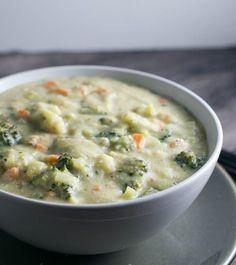 Creamy vegan broccoli soup yup it s vegan healthy dairy free broccoli