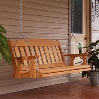 online shopping for Amish Heavy Duty 800 Lb Mission Treated Porch Swing Hanging Chains Cupholders Foot, Cedar Stain) from top store. See new offer for Amish Heavy Duty 800 Lb Mission Treated Porch Swing Hanging Chains Cupholders Foot, Cedar Stain) Pallet Furniture, Outdoor Furniture, Furniture Design, Porch Furniture, Furniture Ideas, Cedar Stain, Wooden Swings, Swinging Chair, Home Projects