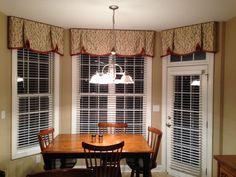 Custom Box Pleat Valances For The Bay Window In Our