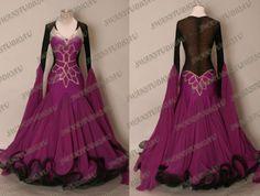 NEW READY TO WEAR HOT MAGENTA CHRISANNE GEORGETTE BALLROOM DANCE DRESS SIZE:6