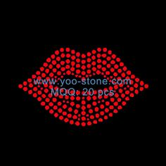 Lips Filled Rhinestone Iron On Transfer For T-Shirts