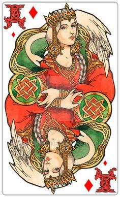 - Queen of diamonds - Lada (color) - by Losenko.deviantart.com on @DeviantArt