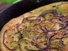 Cast-Iron Skillet Focaccia recipe from Jamie Deen via Food Network