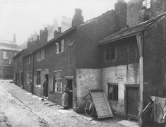 Black and white photograph showing residents in their doorways on Ridgway Fold. Picture taken - Print is from a glass plate negative in Bolton museums collection. Bolton Lancashire, Museum Collection, Doorway, Small Towns, Museums, Photograph, Plate, Black And White, Pictures