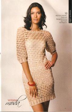 Vestido Casual free crochet pattern