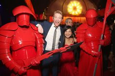 Domnhall and Kelly with some of Snoke's guards
