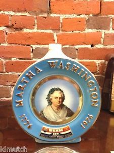 1975 Jim Beam Decanter - Martha Washington 1776 - 1976