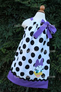 Hey, I found this really awesome Etsy listing at https://www.etsy.com/listing/192684134/daisy-duck-pillowcase-style-dress