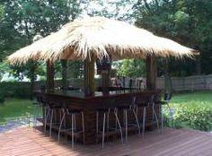 outside bar ideas | Easily modified into an outdoor wrap around tiki bar