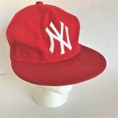 08b46b510d2 New York Yankees Mens Baseball Cap Hat Red Embroidered Adjustable Snapback