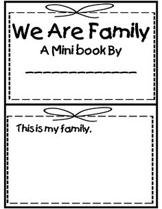 First Grade Wow: Me and My Family | School stuff | Pinterest ...