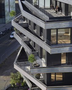 Inoxia apartments feature jagged wraparound balconies
