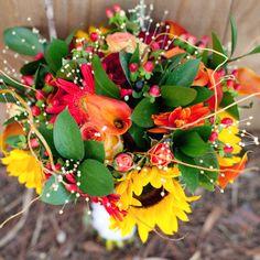 Fall themed wedding bouquet.