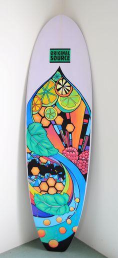 Surfboard art by Elise Renzenbrink