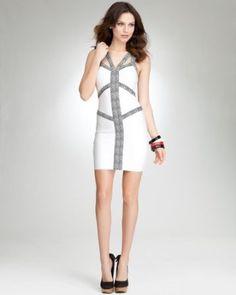 6. a head-turning night-out dress {Chevron Jacquard Bandage Bodycon Dress} #bebe #wishesanddreams
