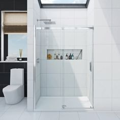Find the perfect quality shower enclosures at affordable prices for your bathroom or ensuite. Including walk in shower enclosures and shower cubicles. Frameless Sliding Shower Doors, Sliding Doors, Upstairs Bathrooms, Small Bathroom, Bathroom Ideas, Sliding Door Mechanism, Walk In Shower Enclosures, Stone Shower, Shower Installation