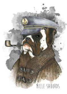 #lucy #inzesky   #encre #illustration #handdraw #sketch #dog #sailor #draw