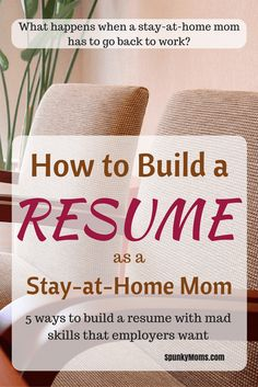 Sample Resume For Stay At Home Mom Returning To Work These