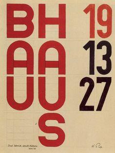 Joost Schmidt, Bauhaus typography, 1931. design-is-fine planetaryfolklore: