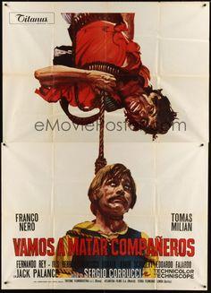 COMPANEROS Italian 2p '72 Sergio Corbucci, Ciriello spaghetti western art of Nero & Milian!