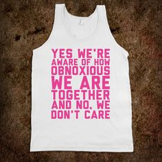 I feel like it's too bad brooke won't work at my school anymore.. we could be a hit with these shirts ;)