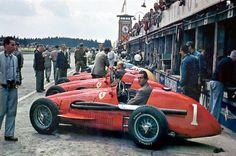 Alberto Ascari Su Ferrari  Gp Niemiec  Ferrari Racing Ferrari F F Racing
