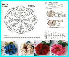 Fleurs colorées et leurs grilles gratuites , au Crochet ! - Le blog de Anne