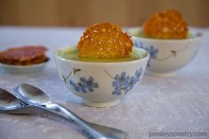 parmesan crisps and creamy zucchini soup by Presley's Pantry
