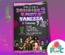 Zombie 2 Invitacion Fiesta De Cumpleanos Disney Zombie 2
