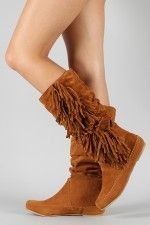 Bamboo Friends-14 Fringe Moccasin Knee High Boot...need these. might buy them tmrw if i can swing it!