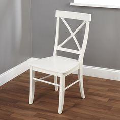 Simple Living Easton Antique White Cross-back Chair. White 1 for $98