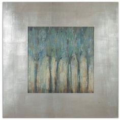 Lowest price online on all Uttermost Windblown Comtemporary Framed Art in Champagne Silver - 41390