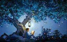 Night illustration via www.Facebook.com/GleamOfDreams