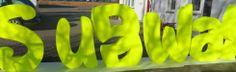 Individueller Schriftzug leicht und stabil aus 3D Buchstaben