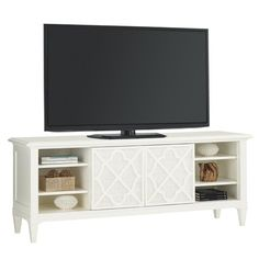 Tommy Bahama Home Ivory Key Wharf Street Entertainment Console | Baer's Furniture | TV or Computer Unit Boca Raton, Naples, Sarasota, Ft. Myers, Miami, Ft. Lauderdale, Palm Beach, Melbourne, Orlando, Florida