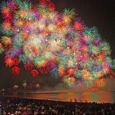 Summer in Japan, fireworks everywhere!
