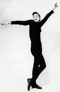 wehadfacesthen:Audrey Hepburn, 1957 photo by Richard Avedon, publicity for Funny Face