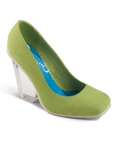 Another great find on #zulily! Lime Leather Clever Edge Pump by Vogue Footwear #zulilyfinds